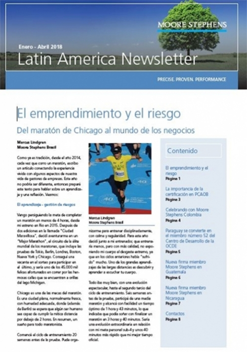 MSLA Newsletter Enero-Abril 2018
